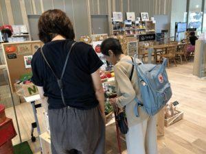 NORAの活動 画像 守山市図書館の「食育マルシェ」